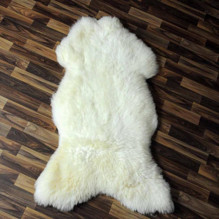 XL ÖKO Schaffell Fell creme weiß 115x75 geschoren Eisbär #3835