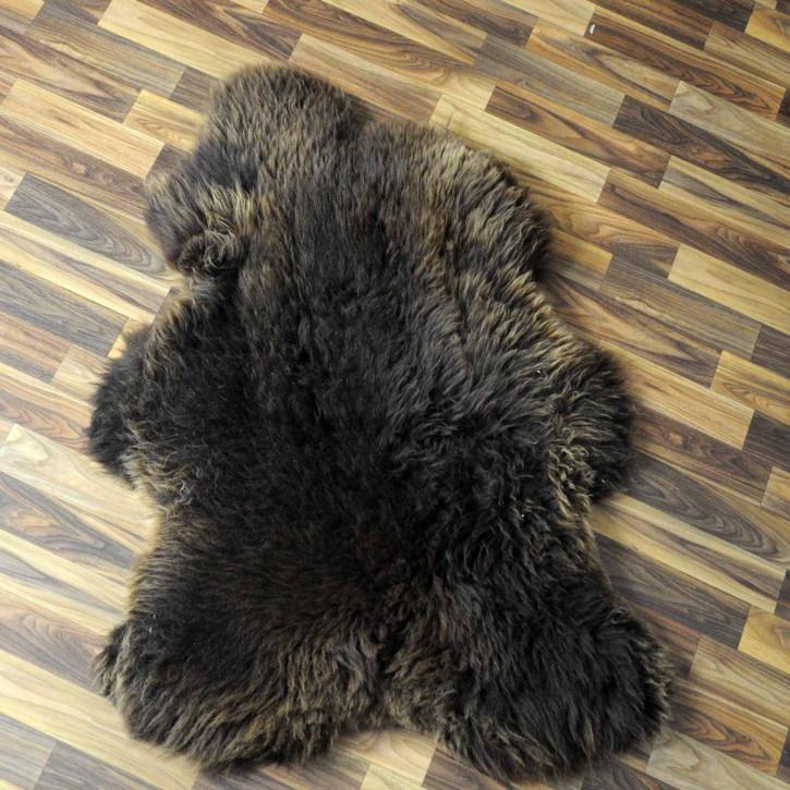 ÖKO Island Schaffell natur braun weiß 105x80 Auflage #3850