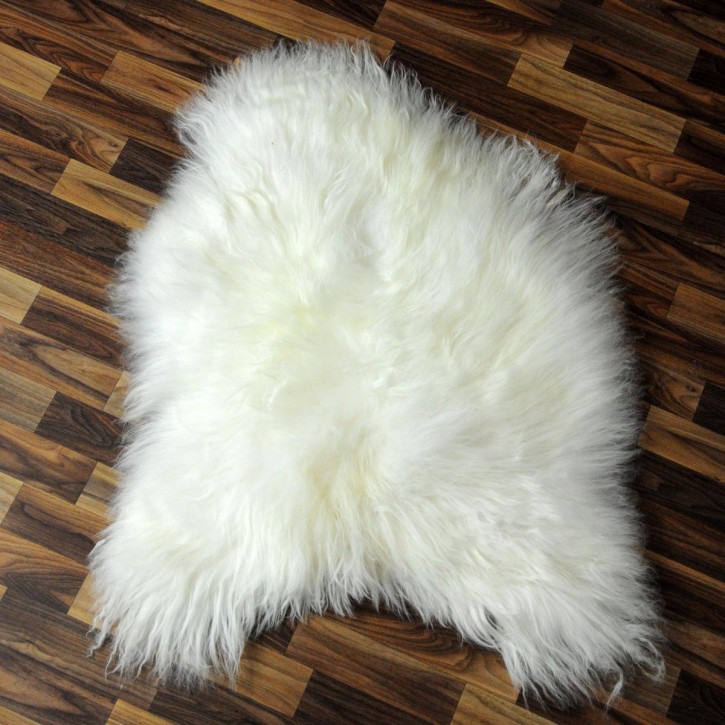 XL Schaffell Lammfell grau 110x70 Couch Auflage #3855