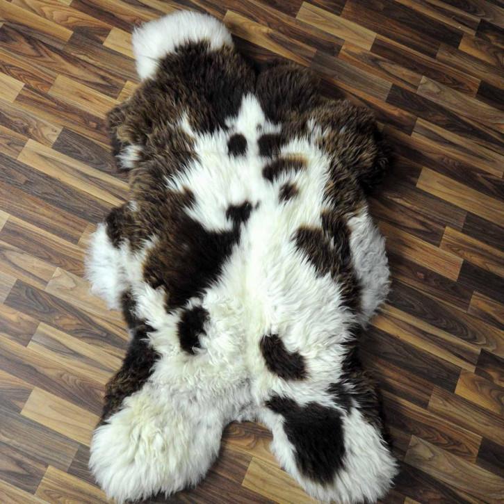 XL Schaffell Lammfell grau 115x70 Couch Auflage #3875