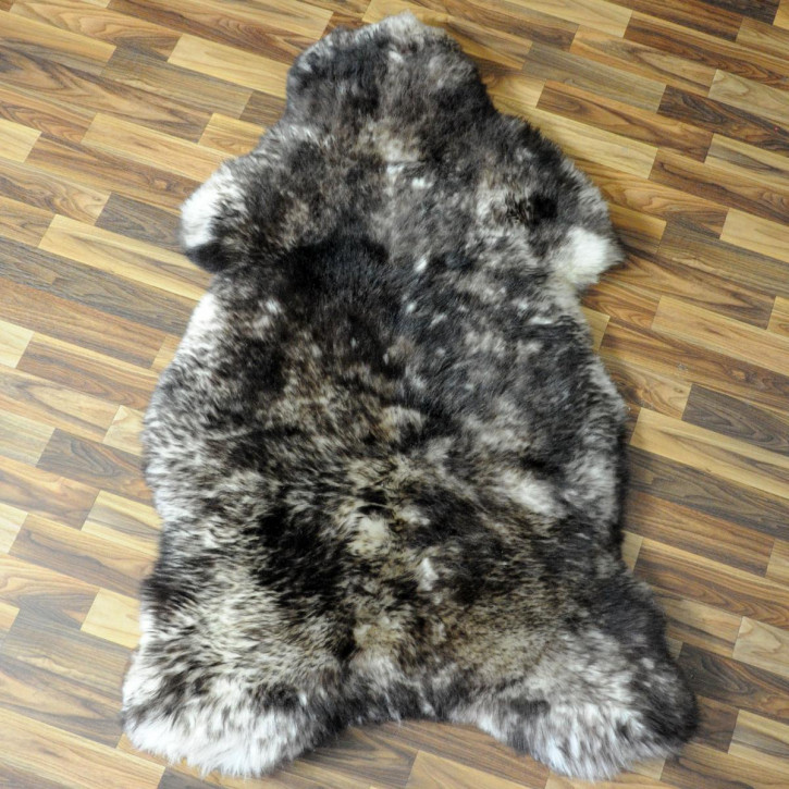 XXL Schaffell Fell weiß braun geflammt 120x75 Hundebett #3932