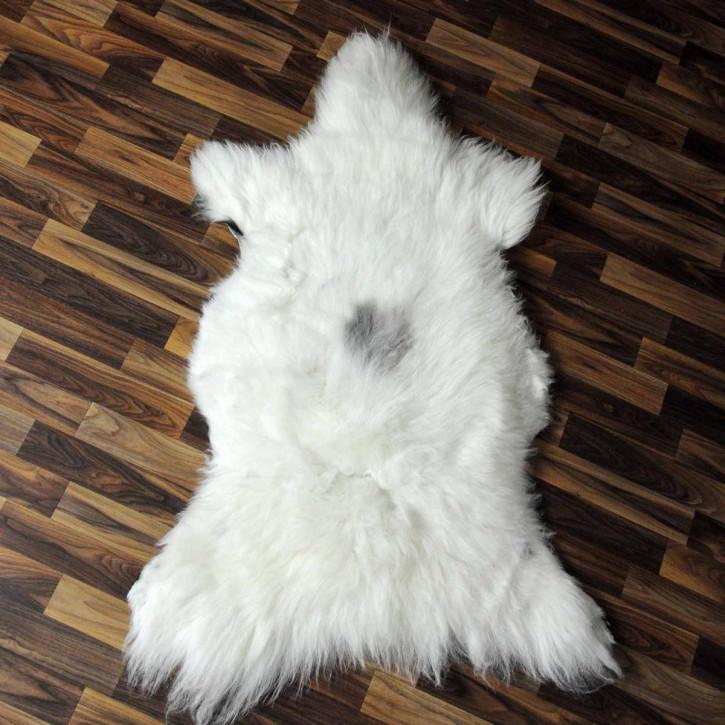 XXL Schaffell Fell weiß braun geflammt 125x80 Hundebett #3933