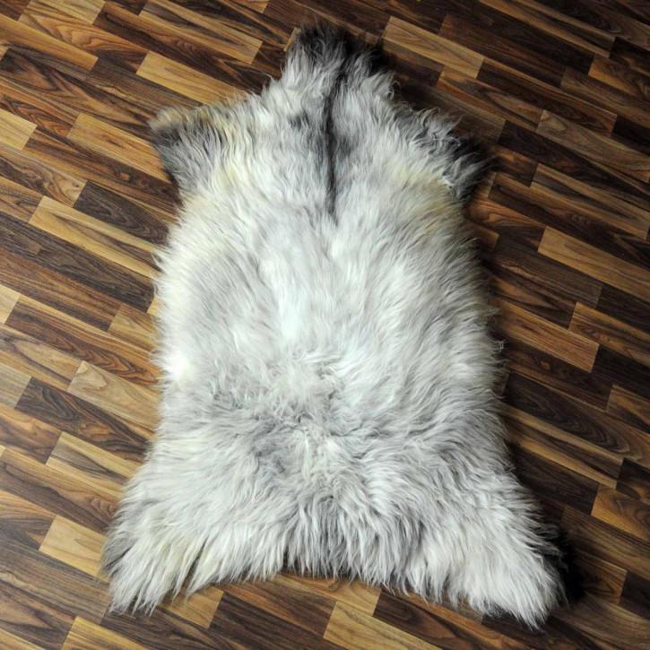XL Schaffell Fell weiß braun geflammt 115x80 Hundebett #3934
