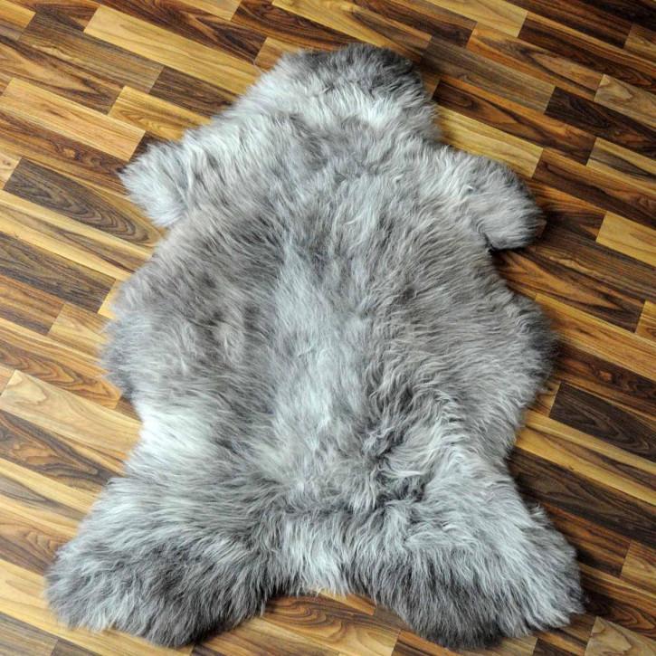 XXXL Schaffell Fell weiß braun geflammt 135x80 Teppich #3937