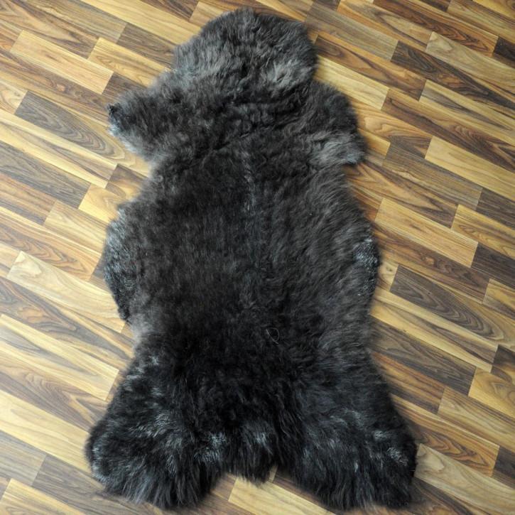 XL ÖKO Schaffell Fell Lammfell beige braun 110x65 #4023