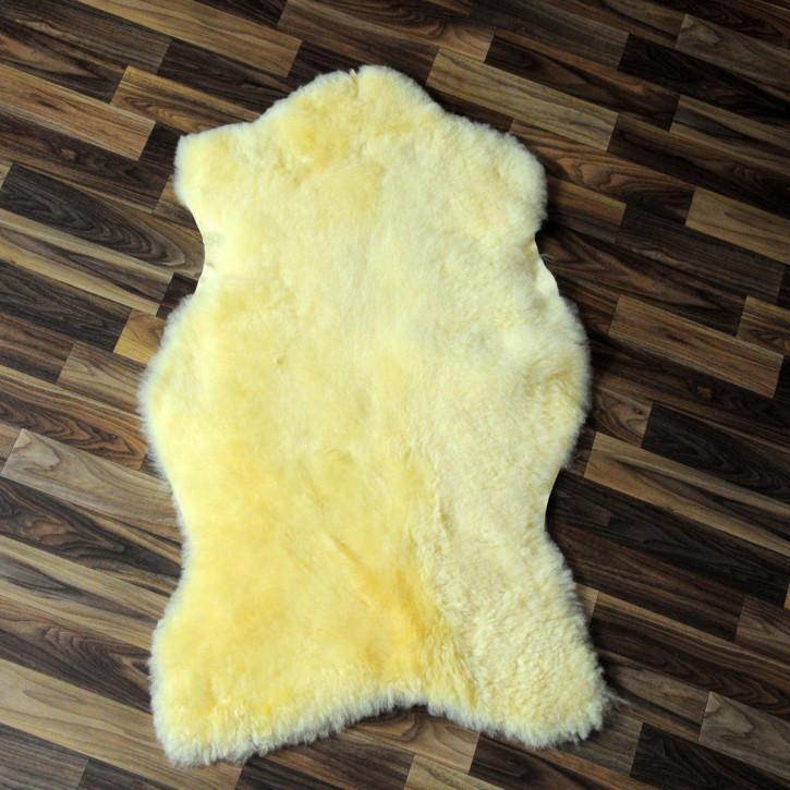 XL Island Schaffell schwarzbraun 115x70 Auflage Deko #4172