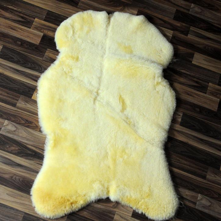 XXL Island Schaffell schwarzbraun 120x70 Auflage Deko #4176