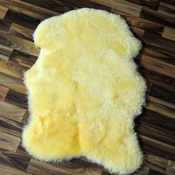 XL Island Schaffell schwarzbraun 110x75 Auflage Deko #4178