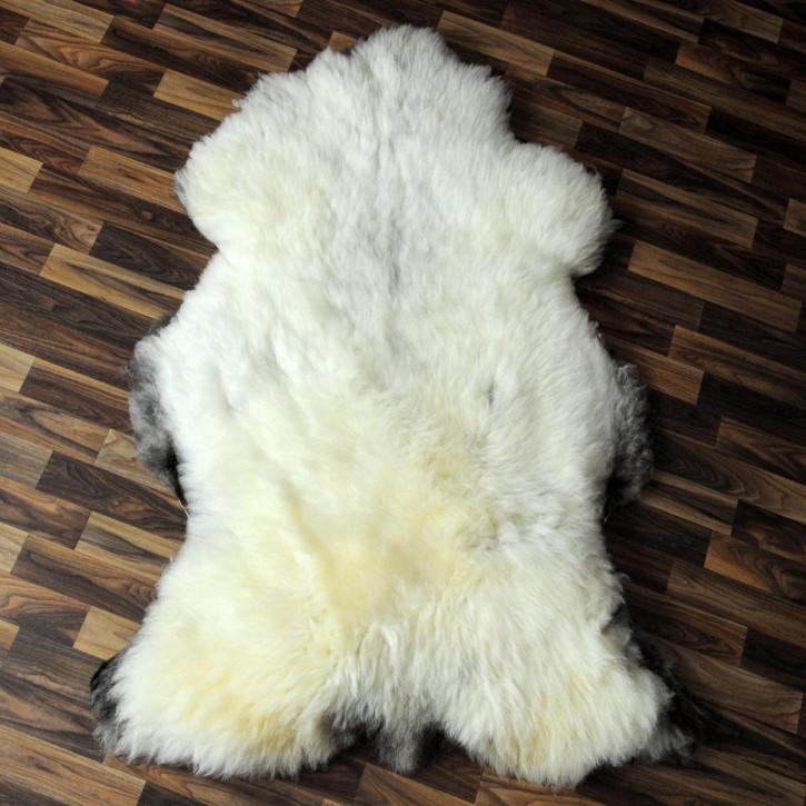 XL Island Schaffell schwarzbraun 110x70 Auflage Deko #4188