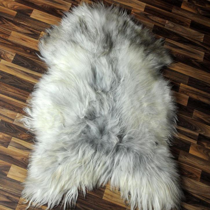 ÖKO Schaffell Fell Lammfell braun beige 105x70 Teppich #4248