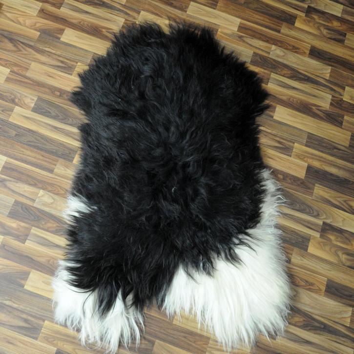 Schaffell Lammfell Fell Pelz dunkel grau 100x70 Auflage #4258