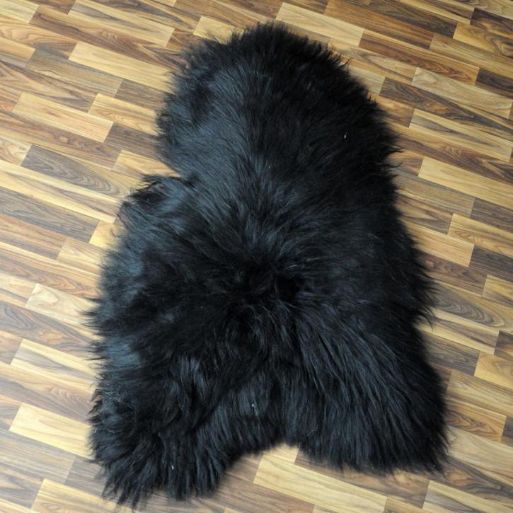 XL Schaffell Lammfell Fell Pelz dunkel grau 110x80 Auflage #4260