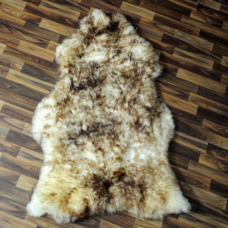 XL ÖKO Island Schaffell natur braun weiß 110x70 #4344