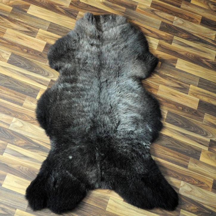 XL ÖKO Schaffell weiß braun geflammt 115x70 #4369
