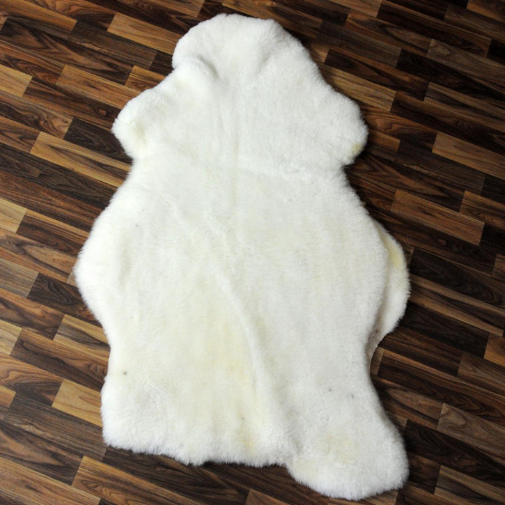 XXL ÖKO Schaffell Fell creme weiß braun 120x70 Auflage geschoren #4364