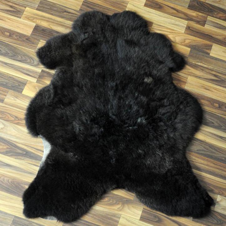 XXL ÖKO Island Schaffell schwarzbraun 120x70 Perchten #4375