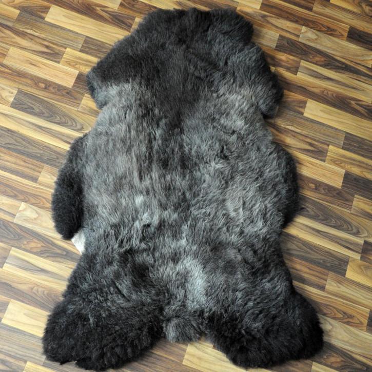 XL Schaffell Fell hell grau 115x70 Auflage gefärbt #4376
