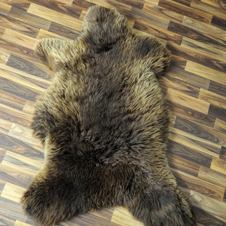 XXL ÖKO Schaffell Fell Lammfell beige braun grau 125x80 Teppich #4381