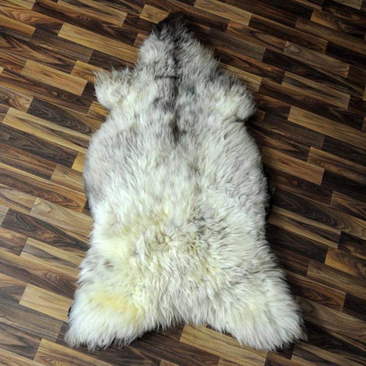 XL ÖKO Schaffell weiß braun geflammt 110x70 #4389