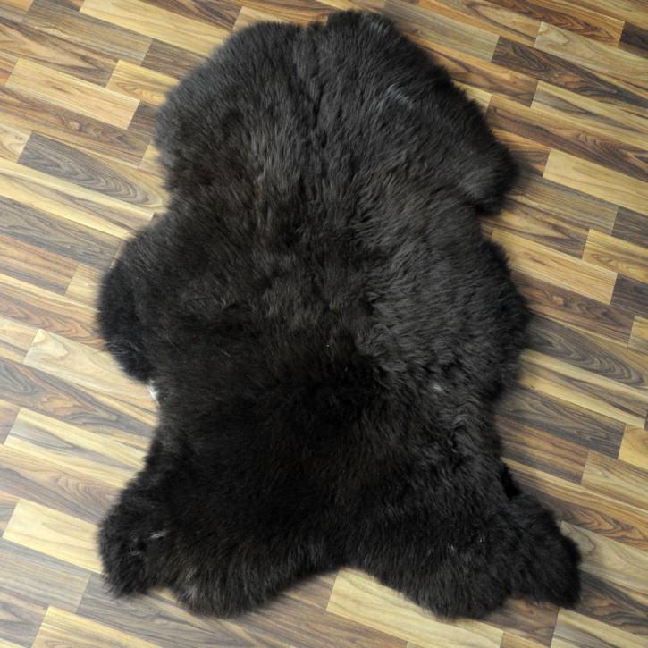ÖKO Island Schaffell grau beige 105x75 gelockt #4403