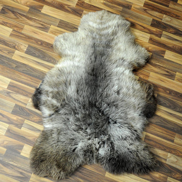 ÖKO Island Schaffell grau beige braun 105x65 gelockt #4456