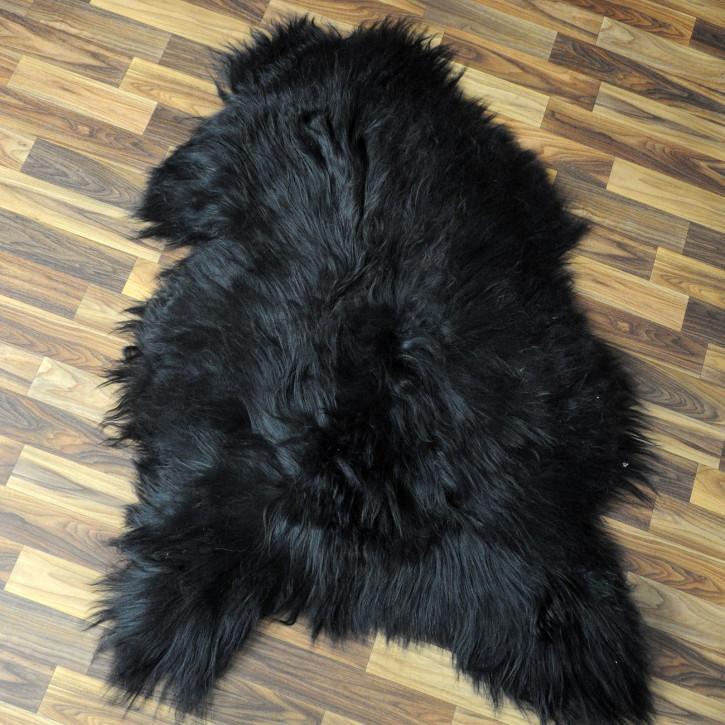 XL ÖKO Island Schaffell grau beige braun 110x75 gelockt #4462