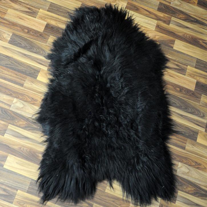 XL ÖKO Island Schaffell grau beige braun 110x65 gelockt #4463