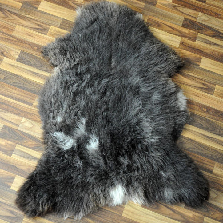 XL ÖKO Island Schaffell grau beige braun 110x65 gelockt #4466