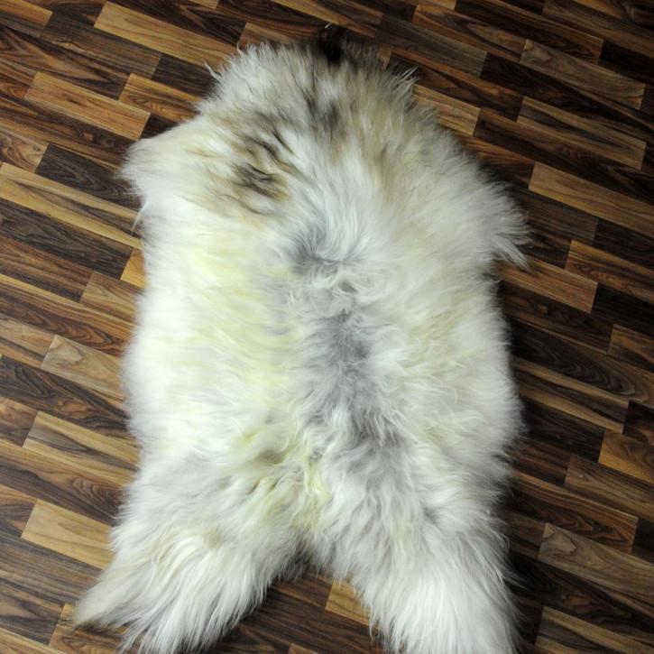 ÖKO Island Schaffell grau beige 100x70 gelockt Deko Fell #4467
