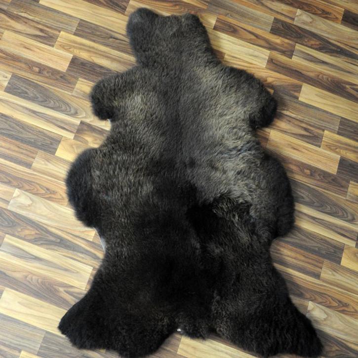 XL ÖKO Island Schaffell schwarzbraun 115x65 Perchten #4529
