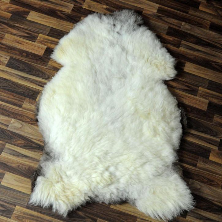 Schaffell Fell Lammfell braun 95x70 Teppich Hundebett #4567