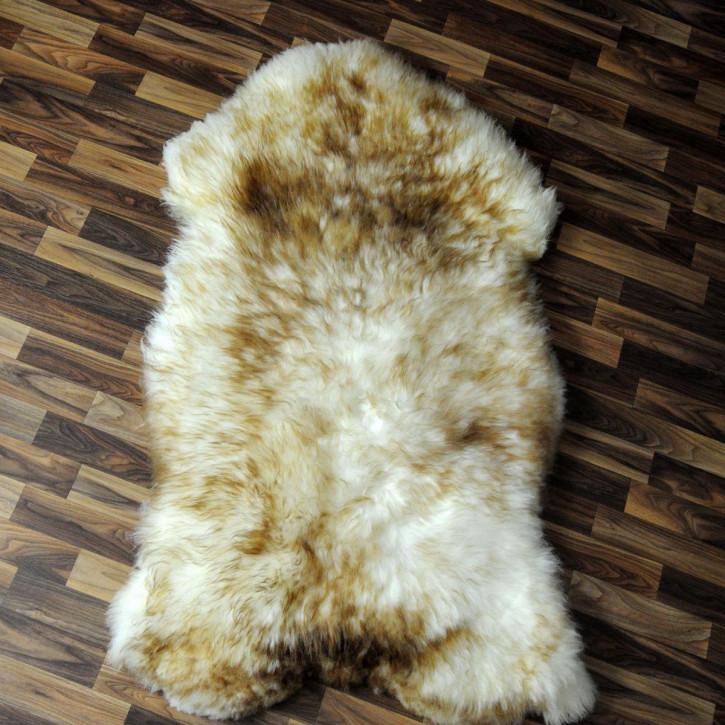 XL Schaffell Fell Lammfell braun 110x65 Stuhl Auflage #4587