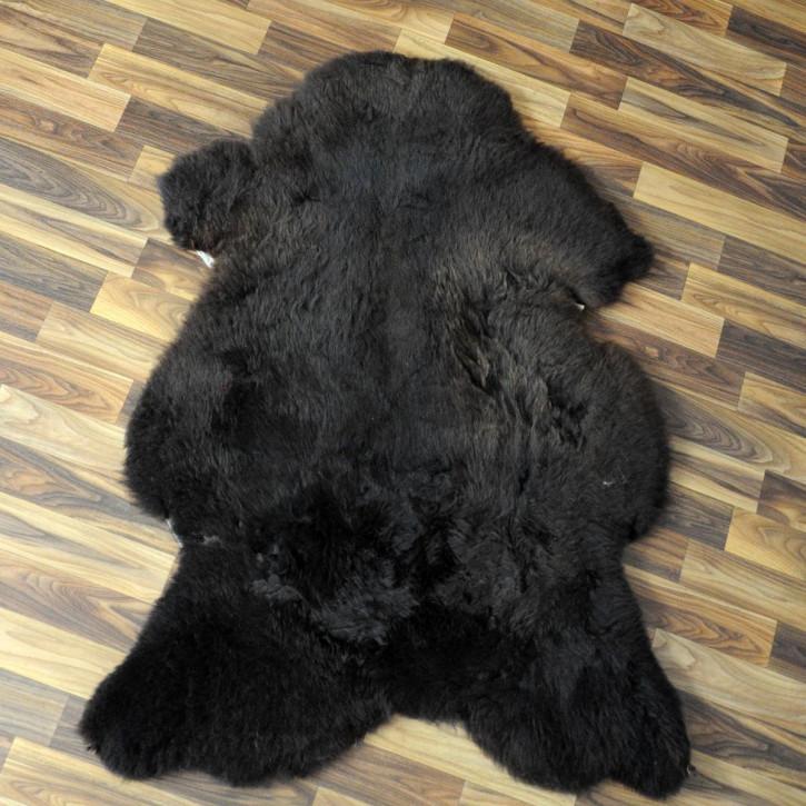 XL ÖKO Schaffell Lammfell Fell creme weiß 110x85 #4668