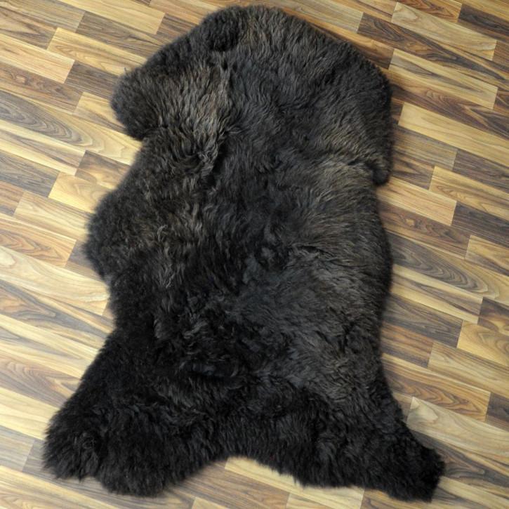 XL ÖKO Schaffell Fell weiß braun geflammt 110x70 #4678