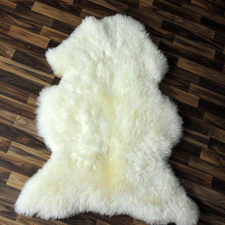 XL ÖKO Island Schaffell creme weiß 110x70 Fell Auflage #4743