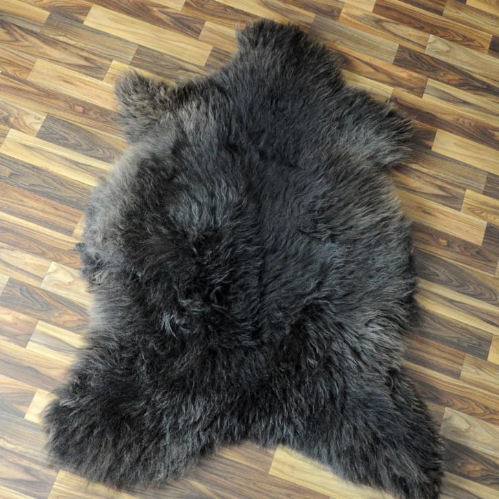 ÖKO Island Schaffell weiß schwarz geflammt 105x70 #4763