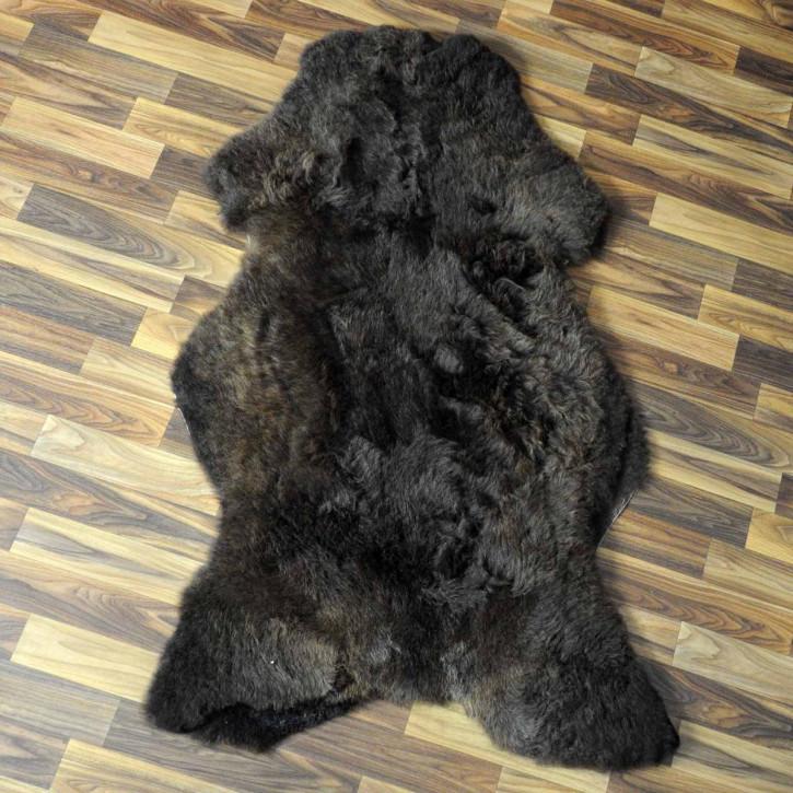 XL ÖKO Island Schaffell natur grau braun 110x70 #4796