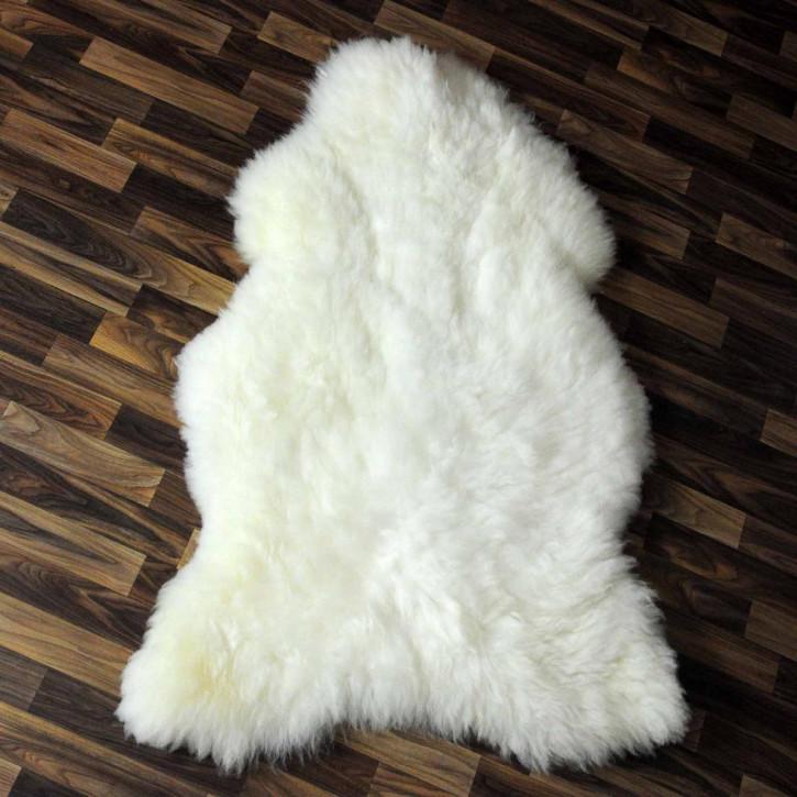 XXXL ÖKO Schaffell Fell creme weiß braun 130x85 Couch Stuhl Auflage #4856
