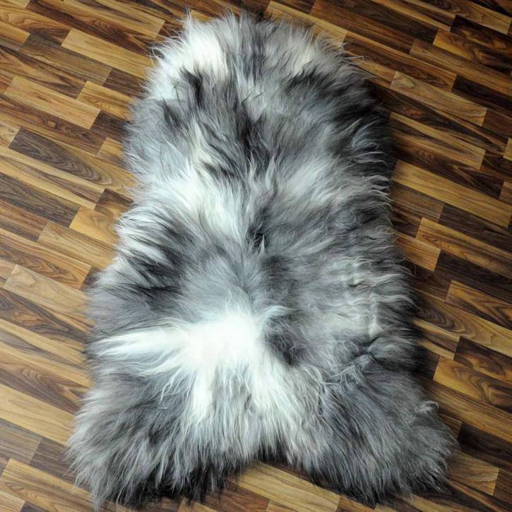 Island Schaffell grau schwarz geflammt 100x60 Auflage #4974