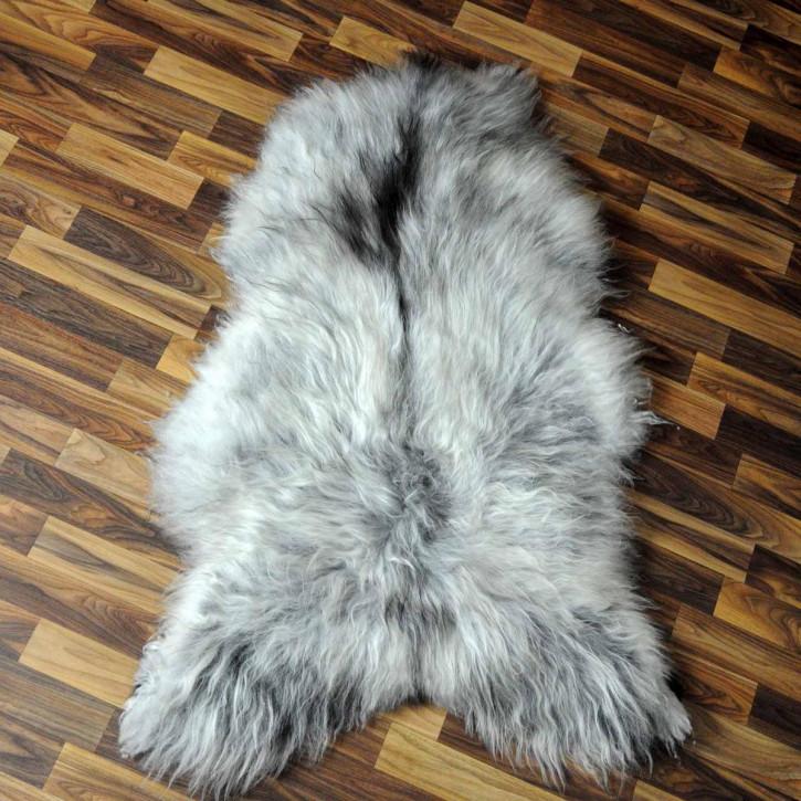 XXL ÖKO Island Schaffell natur braun weiß 120x75 Auflage #4977