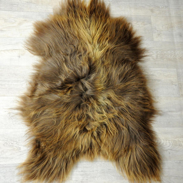 ÖKO Island Schaffell Lammfell natur braun 105x75 #5048