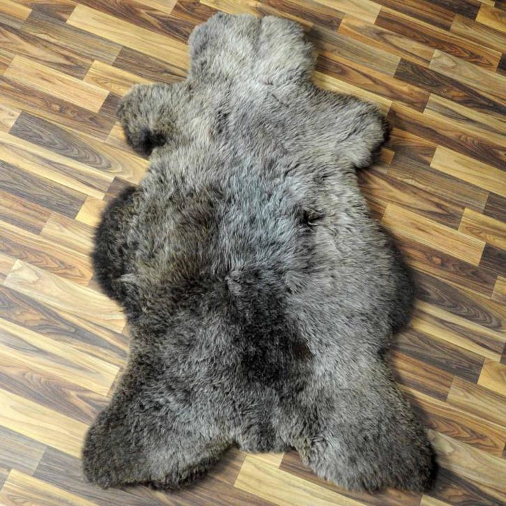 XXXL ÖKO Island Schaffell schwarzbraun 130x80 Perchten #5094