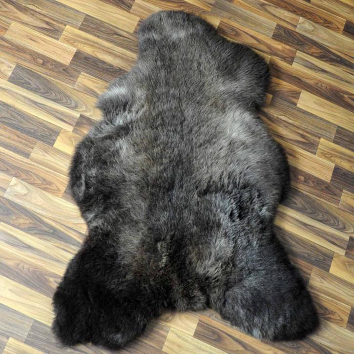 XXXL ÖKO Island Schaffell schwarzbraun 130x80 Perchten #5095