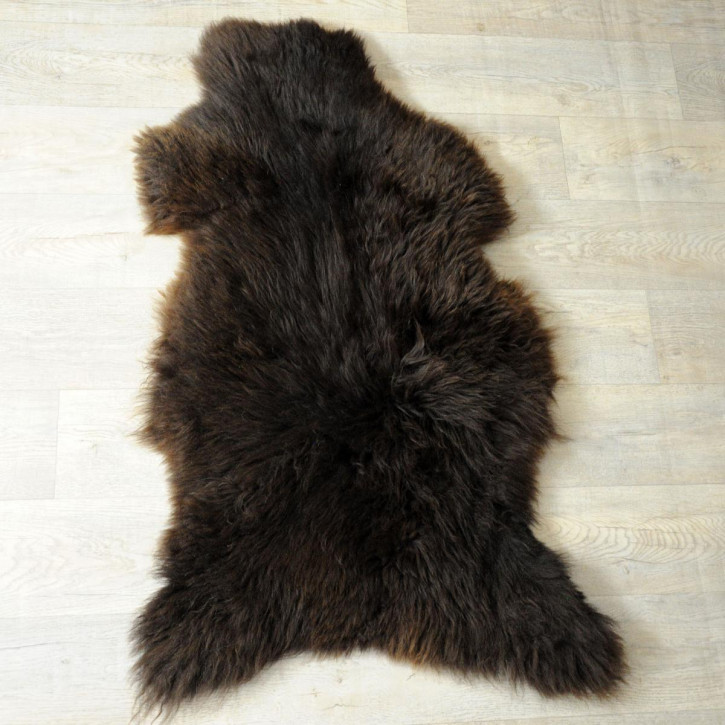 XXXL ÖKO Island Schaffell schwarzbraun 130x80 Perchten #5096