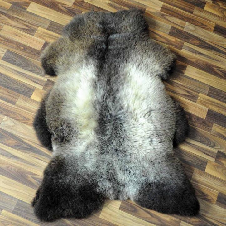 XXL ÖKO Island Schaffell schwarzbraun 125x70 Perchten #5098