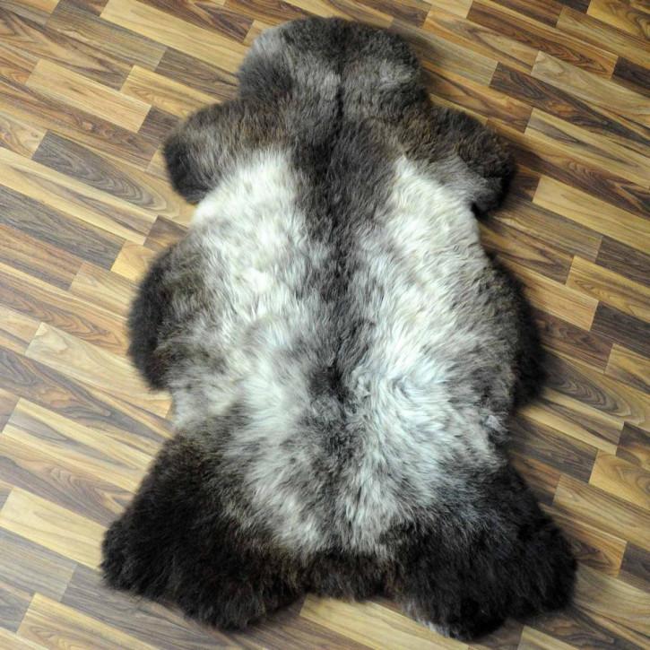 XXL ÖKO Island Schaffell schwarzbraun 125x80 Perchten #5100