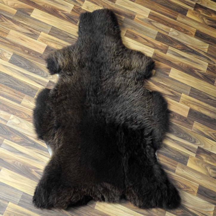 XXL ÖKO Island Schaffell schwarzbraun grau 125x75 Krampus #5115
