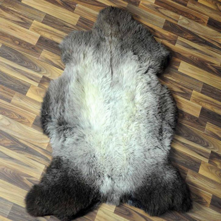 XXL ÖKO Island Schaffell beige schwarzbraun 120x80 gelockt #5142