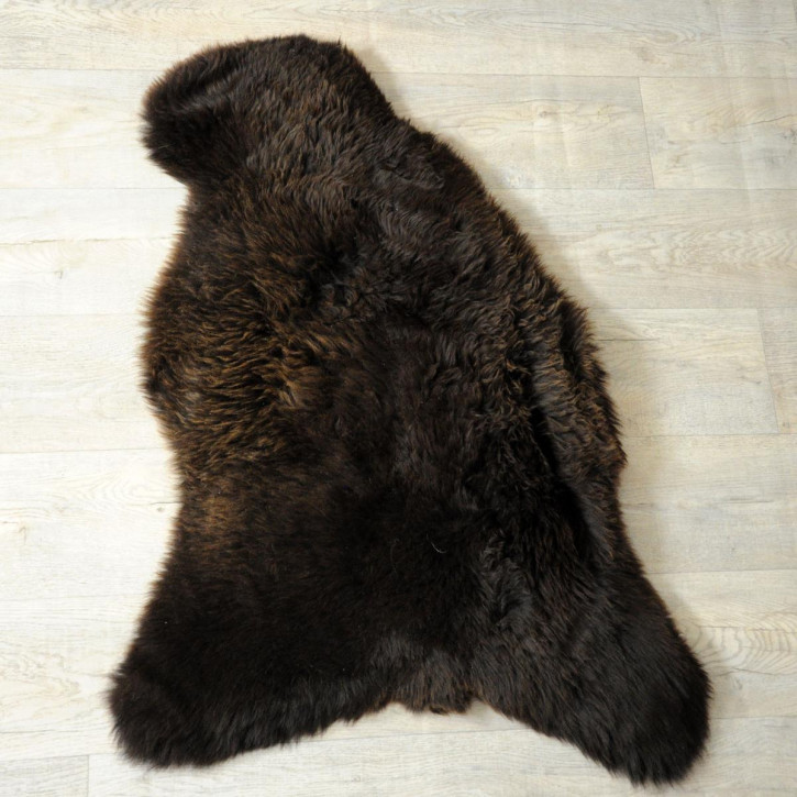 ÖKO Island Schaffell weiß schwarz geflammt 100x70 #5154