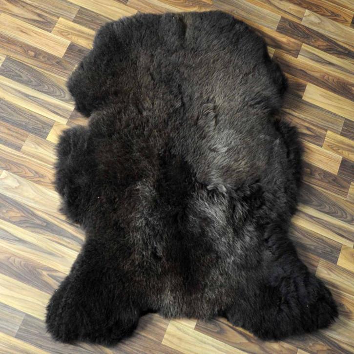 XL ÖKO Island Schaffell weiß schwarz geflammt 110x75 #5157
